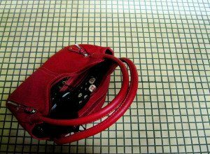 Red Purse on the Floor