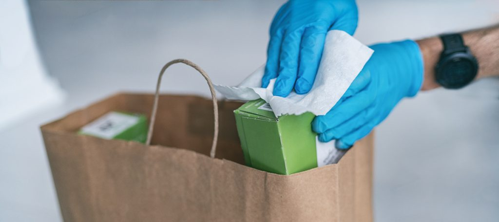 COVID-19 Social Distancing Guide: Remove Packaged Items from their Outer Packaging